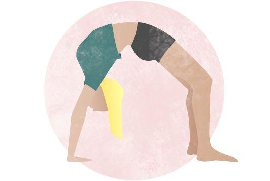 Illustration einer Frau beim Yoga