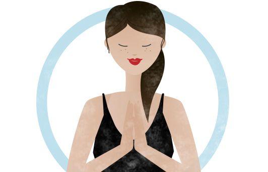 Illustration einer Frau beim Meditieren