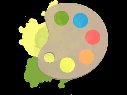 Farbpalette mit verschiedenen Farben