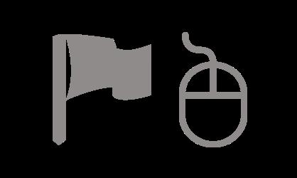 Symbole Fahne und Maus