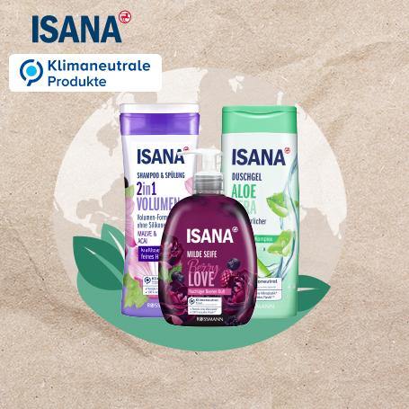 Klimaneutrale Produkte von ISANA