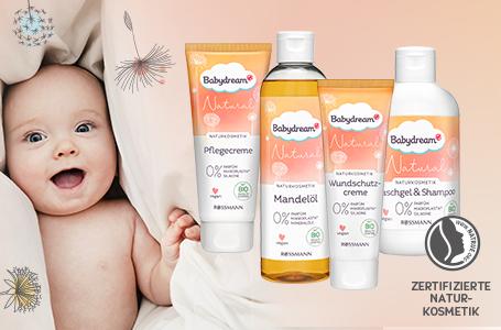 Babydream Natural Serie - Natürliche und sanfte Pflege für zarte Babyhaut
