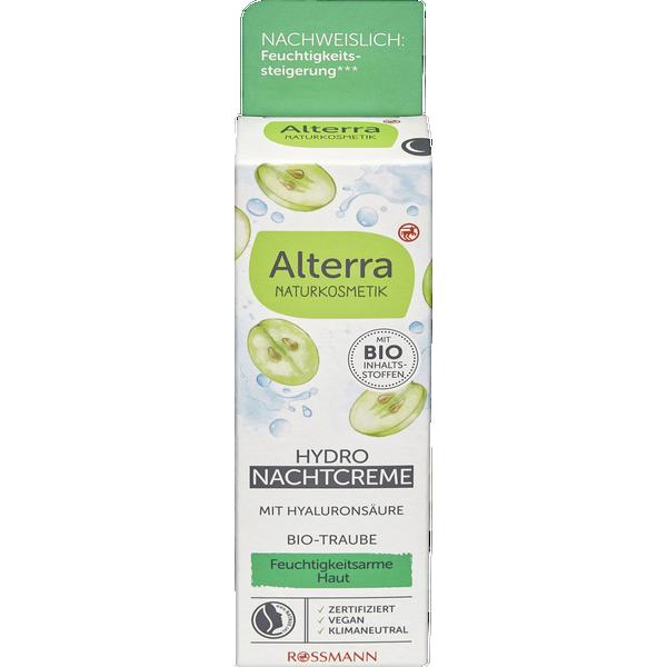 Alterra Naturkosmetik Hydro Nachtcreme - Bio-Traube & Bio-Weisser Tee